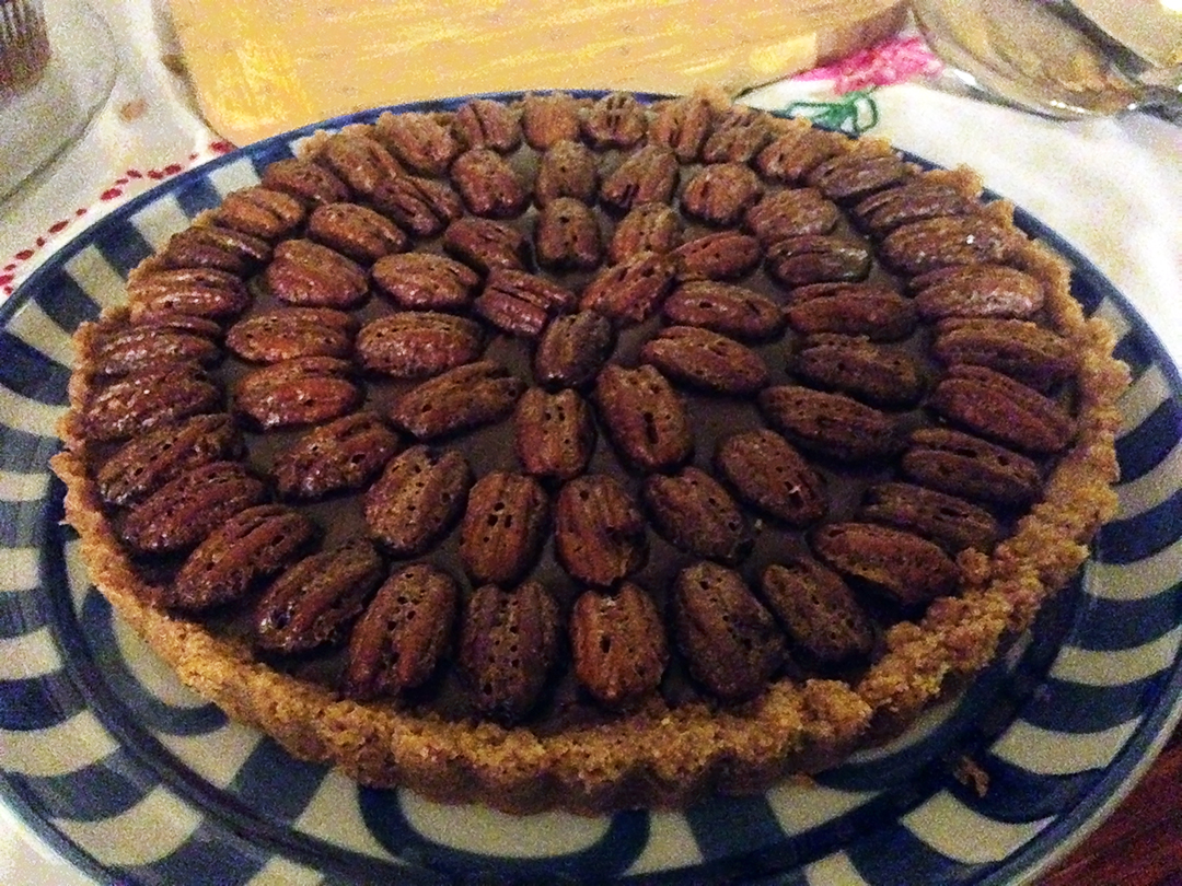 Mexican chocolate tart with cinnamon-spiced pecans | Gastronomical ...