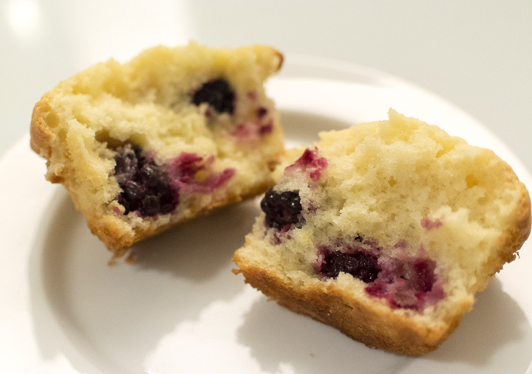cream cheese blackberry muffin