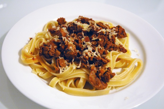 Recipe for pasta and chicken livers