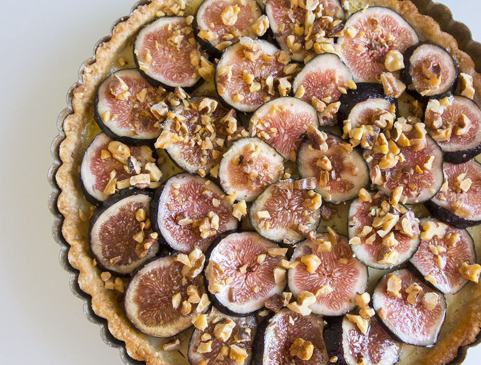 Lemon and honey tart with walnut crust and honeyed figs ...