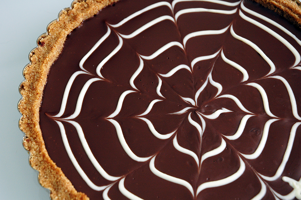 Chocolate ganache tart with toasted pecan crust | Gastronomical ...