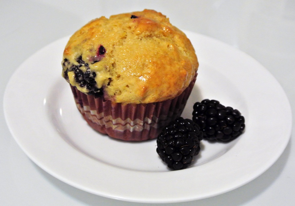 Lemon and blackberry muffins | Gastronomical Wayfaring