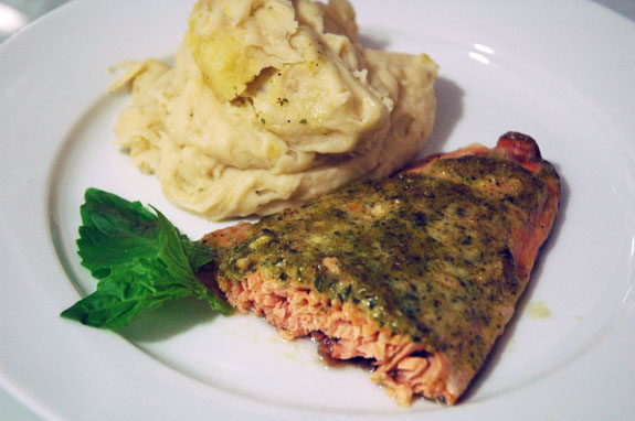 walnut butter salmon